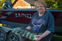 image of joyce damon with limit of Crappies