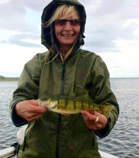 image of carol painter with big perch