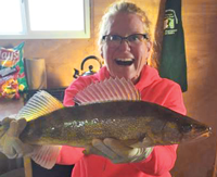 image of walleye caught on lake of the woods