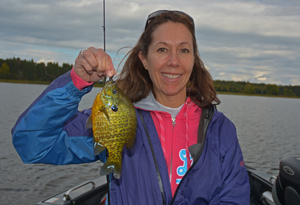 image of Jackie Goettl with big sunfish