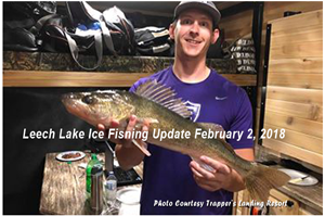 image of walleye fisherman on leech lake