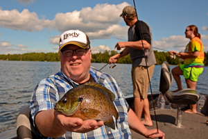 image of sunfish caught on little joe spinner