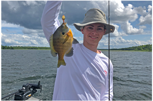 image of Cy Musgjerd with big bluegill