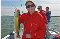 woman with nice walleye