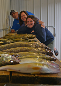 image of enger family with fish catch