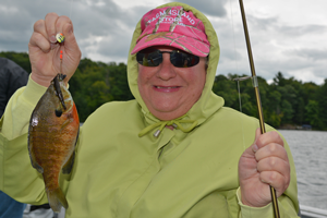 image of cybdi hale with big bluegill
