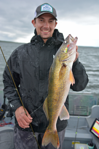 image of jonah blood with big walleye