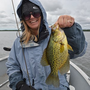 image of missy shephard with huge crappie