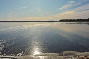 image of woman lake