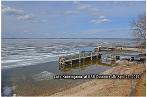 image of ice conditions at Kabetogama Lake