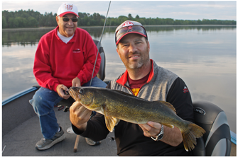 image of Tony and Dick Vitelli with noce walleye